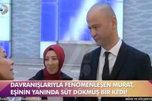 MasterChef Murat eşinin yanında süt dökmüş kediye döndü!