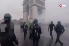 Fransa'da gösterilerin şiddeti polis kamerasında