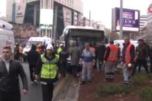 Otobüs şoförü yayaların arasına daldı! Çok sayıda yaralı var