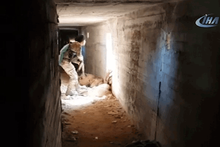 Teröristlerin kullandığı tüneller böyle görüntülendi!