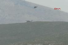 Helikopterimizin düştüğü bölgeden ilk görüntüler