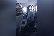 Şok görüntüler! Uçakta mastürbasyon yaparken yakalandı