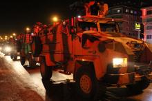 60 askeri zırhlı araç Afrin'e geçmek üzere Hatay'a geldi
