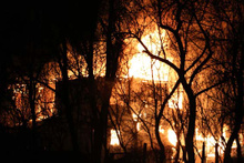 Bolu'da ev, ahır ve odunluk yangını