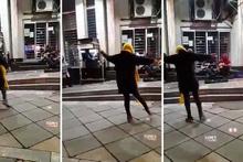 Yasağa rağmen böyle dans etti! Sosyal medyayı salladı