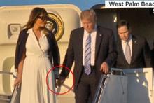 First Lady'nin hareketi Trump'ı şoke etti!