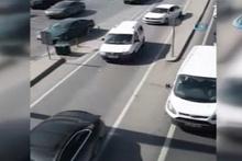 Kuralları hiçe sayan sürücüler ters yönde böyle ilerledi