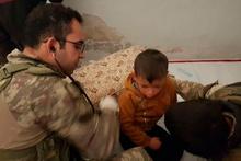 Teröristlerden kurtarılan bölgeye Mehmetçik  yardımı