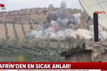 Afrin'de çatışma anı kamerada!