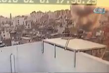 Kilis'e roketin düşme anı böyle görüntülendi