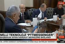 Başbakan PTT Mesenger ile Afrin'e bağlandı!