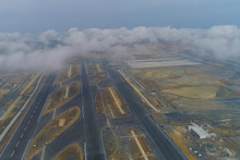 Yüzde 78'i tamamlanan 3'üncü Havalimanı inşaatı havadan görüntülendi