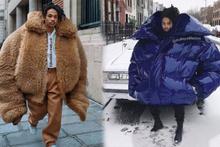 Paris Moda Haftası'nda bir garip dev palto trendi alay konusu oldu