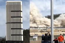 28 katlı bina saniyeler içinde yerle bir oldu