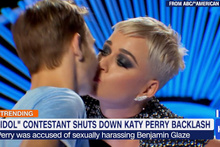 Kimse bunu beklemiyordu! Katy Perry'nin öpücüğü şok etti