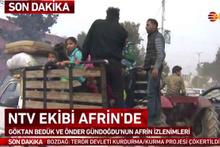 Afrin'de halk evlerine dönmeye başladı