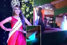 Eşcinsel güzellik yarışmasında ortalık karıştı!