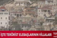 Afrin'de PKK'lıların lüks villaları böyle görüntülendi
