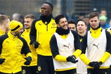 Usain Bolt Dortmund ile ilk antrenmanına çıktı!
