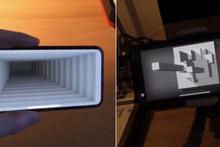 ARKit teknolojisi ile iPhone X'de yapılan optik illüzyon