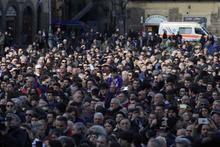 Fiorentina kaptanı Astori son yolculuğuna uğurlandı