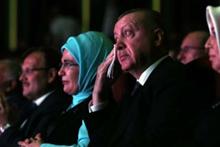 Cumhurbaşkanı Erdoğan, Roman Buluşması'nda gözyaşlarını tutamadı