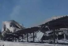 Vurulan bilimsel araştırma merkezindeki hasar görüntülendi