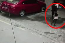 Sokakta yürürken kafasına köpek düştü,gizemli olay interneti salladı
