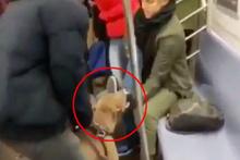 Metroda dehşet anları… Bir anda kadına saldırdı!