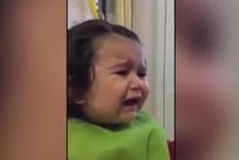 Mantı krizine giren bebek sosyal medyayı salldı