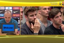 Andres Iniesta Barcelona'dan ayrılıyor göz yaşlarını tutamadı