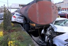 Başakşehir'de feci kaza! Tanker kaydı, ortalık savaş alanına döndü