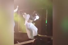 Inna'nın talihsiz kazası! İstanbul konserinde sahneden böyle düştü