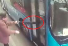 Otobüse binmek isteyen yaşlı adam dehşeti yaşadı