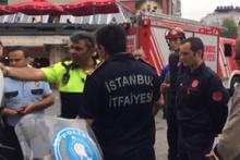 Taksim'de ilginç tartışma! Polis, itfaiyeciye ceza kesti