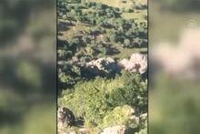 TSK paylaştı! PKK'nın kullandığı mağara böyle yerle bir edildi
