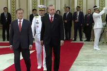 Cumhurbaşkanı Erdoğan Güney Kore'de resmi törenle karşılandı