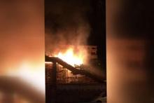 Korkutan yangın! Hızlı tren inşaatı alev alev yandı