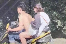 Onları bu halde görenler şoke oldu motosikletin üzerinde akılalmaz kare