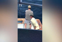 Balık tutmaya çalışan adamı fena oyuna getirdiler!