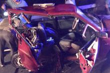 İki otomobil çarpıştı : 10 yaralı