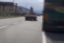 Trafik kazasını canlı canlı çekti