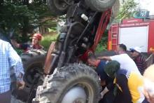 Sakarya'da feci kaza! İmdadına itfaiye yetişti