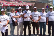 CHP Genel Merkezi'nde 'Herkes İçin Adalet' eylemi