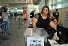 24 Haziran seçimleri için sınır kapılarında oy verme işlemi başladı