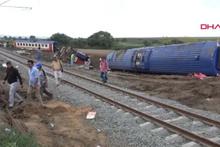 Tekirdağ'da kaza yapan trenin vagonları parçalanacak