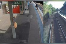 Kahraman adam, tren raylarına düşen adamı böyle kurtardı