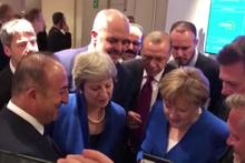 NATO zirvesinde liderler İngiltere-Hırvatistan maçını takip etti