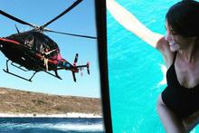Türkan Şoray'ın kızı Yağmur Ünal helikopterden denize böyle atladı