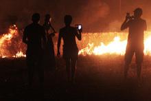 Bodrum'da alevli gece: Korku dolu anlar